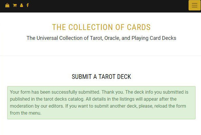 THE COLLECTION OF CARDS The Universal Collection of Tarot, Oracle, and Playing Card Decks
